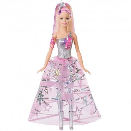 Muñeca Barbie Aventura espacial con Vestido Galáctico 30cm JNBMTL312_1