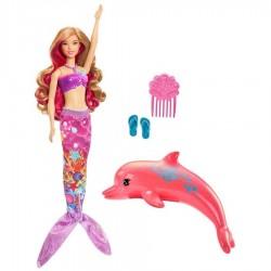 Muñeca Barbie y los Delfines Sirena 30cm JNBMTL379_1