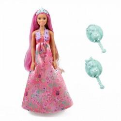 Muñeca Barbie Princesa Cabello Mágico Mattel 30 cm JNBMTL382_1