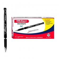 24 Boligrafos Offi Esco Gel 0.7mm Tapa OE-074 Tinta Gel