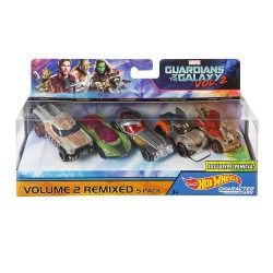 Set 5 Autos Hot Wheels Guardianes De La Galaxia 2
