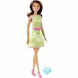 Muñeca Barbie con Regalo - Verde 30 cm