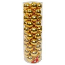 50 Esferas de 8 cm de diámetro color Dorado - Navidad HOGGEN467_1