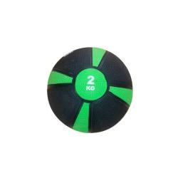 Balón Medicinal De Rebote Evolution 2kg Verde Negro