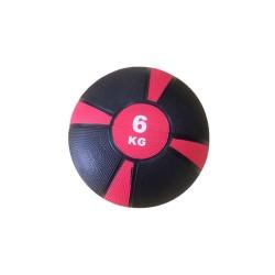 Balón Medicinal De Rebote Evolution 6kg Rosado Negro
