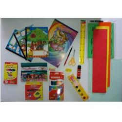 Kit Preescolar Niña Papeleria 21 Objetos
