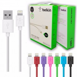 Cable de datos Blanco USB Iphone 5/5s/5c/6/6plus/Ipad Belkin