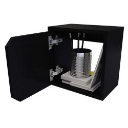 Repisa Cubo Con Puerta Practimac Wengue 30x30x20cm