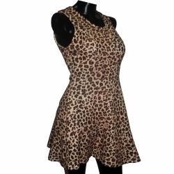 Vestido Alycia Koaj Animal Print Color Marfil Talla XS
