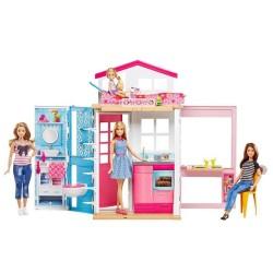 Casa Glam de 2 Pisos Barbie Mattel con Muñeca incluida
