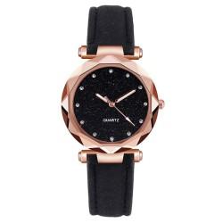 Reloj mujer en gamuza tablero cielo estrellado Negro RE3
