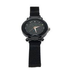 Reloj mujer cuarzo cielo estrellado Magnetico malla Negro R7