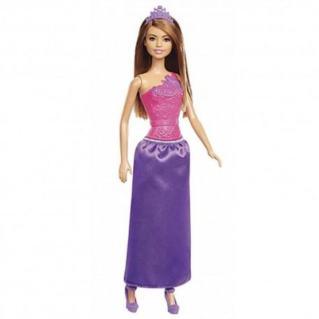 Muñeca Barbie Princesa Rosado Morado 30cm