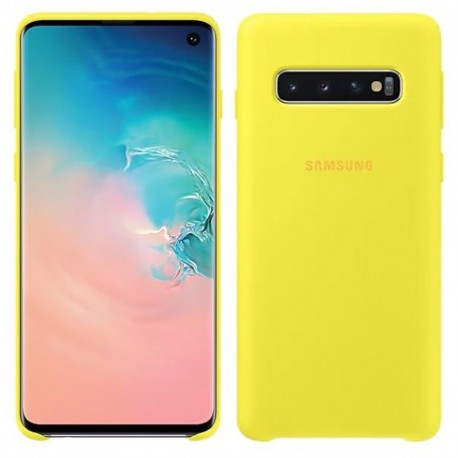 Carcasa Samsung Galaxy S10 Silicone Cover Amarillo