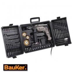 Kit taladro Bauker 3/8 percutor 90acc 550w 3000rpm