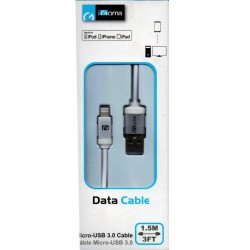Cable de datos USB iGoma Blanco 1.5m iPhone5/5s/5c/6/6+/Ipad