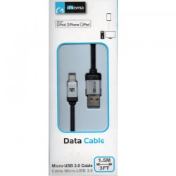 Cable de datos USB iGoma Negro 1.5m iPhone5/5s/5c/6/6+/Ipad