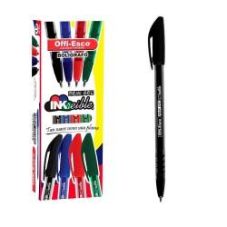 36 Boligrafos Negro Offi Esco Semigel 1mm trazo fino OE-076