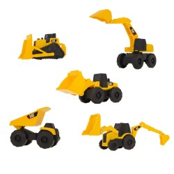 Set Mini Maquinas Construcción Caterpillar Amarillo JNBCAT277_1