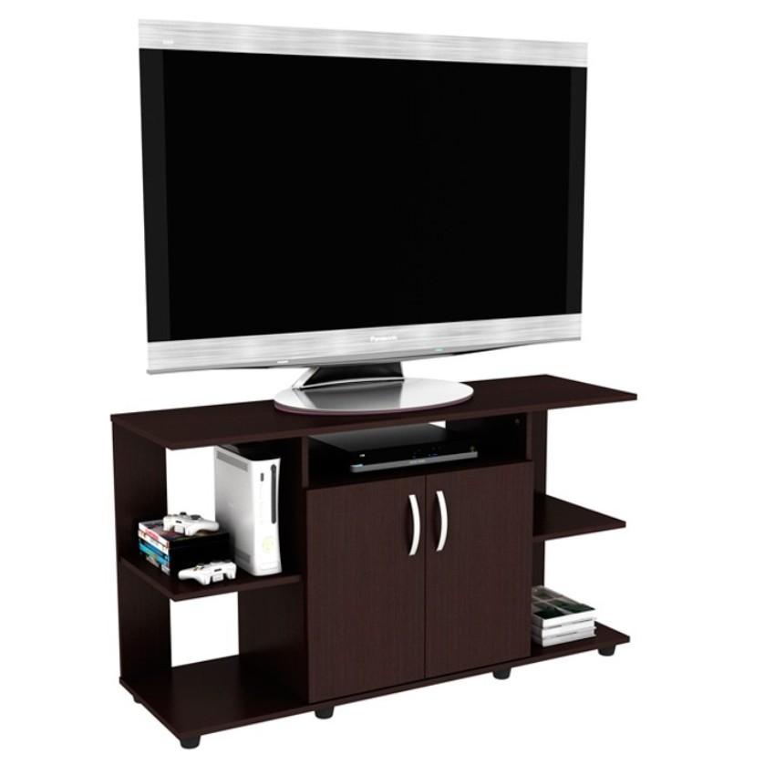 Mesa tv practimac 2 puertas color wengue 120 x 68 x 38 cm for Mesa tv 49 pulgadas