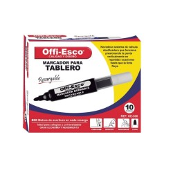 10 Marcadores Rojo Offi Esco Para tablero Recargable OE-506 OFPOEC446_2