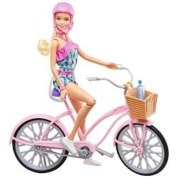 Muñeca Barbie Paseo En Bicicleta 30cm Con Accesorios