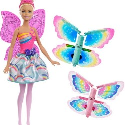 Muñeca Barbie Hada Alas Mágicas 30cm con 2 pares de alas