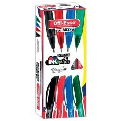 36 Boligrafos Azul Offi Esco Semigel 1mm trazo fino OE-076