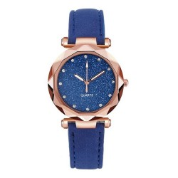 Reloj mujer en gamuza tablero cielo estrellado Azul RE2E
