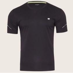 Camiseta Patprimo Deportiva Hombre Negra Cuello V Talla S