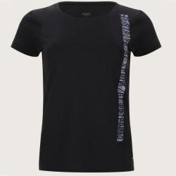 Camiseta deportiva Patprimo Negra Mujer con Estampado TallaL